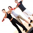 Group doing fitness exercises — Stock Photo #4300780