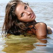 Sexy and beautiful woman in the water - Stock Photo