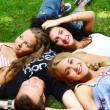 Teenagers group in the park — Stock Photo #4301122