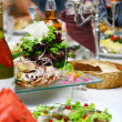 Fresh and tasty food on table — Stockfoto