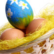 Stock Photo: Easter backgroung with eggs