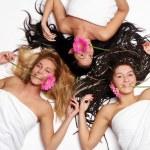 Group of three beautiful girls — Stock Photo