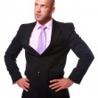 Business man isolated on white — Stock Photo