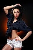 Young beautiful brunet sexy woman — Stock Photo