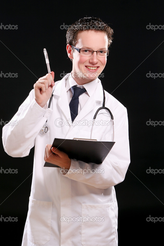Young and happy doctor student — Stock Photo #4301786