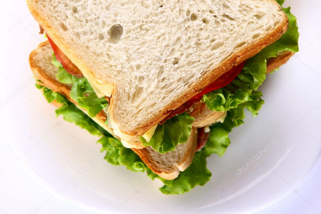 Fresh sandwich on th table stock photo yekophotostudio for Javascript table insertcell th