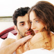 Stock Photo: Young couple in bed