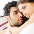 Young couple in bed — Stock Photo #4643513