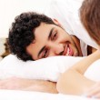 Young couple in bed — Stock Photo #4643583