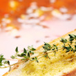 Toast with oil and thyme — ストック写真