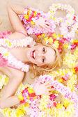Beautiful woman relax in hawaii style — Foto de Stock