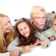 Group of young and beautiful teens — Stock Photo