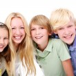 Group of beautiful teens — Stock Photo