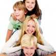 Group of young and beautiful teenagers — Stock Photo