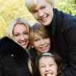Happy family have fun in park — Stockfoto