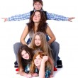 Group of cute and happy teens — Stock Photo