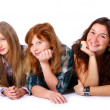 Group of cute and happy teens — Foto de Stock