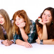 Royalty-Free Stock Photo: Group of cute and happy teens