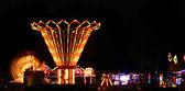 Parque de diversões colorido e brilhante — Foto Stock