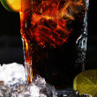 Fresh cola drink with green lime — Stock Photo #5023057