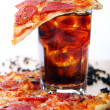 Fresh pizza and cold cola drink — Stock Photo #5023525
