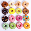 Colorful and tasty donuts — Stock Photo #5123746