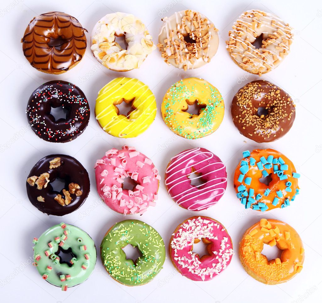 Colorful and tasty donuts — Stock Photo © yekophotostudio ...
