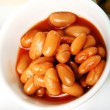 Fresh haricot beans - Stock Photo
