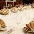 Stock Photo: Banquet table with restaurant serving