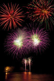 Volleys of fireworks — Stock Photo