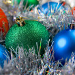 Multi-colored Christmas balls — Stock Photo