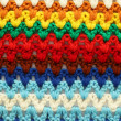 Knitted multicolored background — Stock Photo