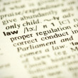 Dictionary definition of the word Law — Stock Photo