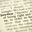 "Dictionary definition of the word ""Justice"" in English — Stock Photo"