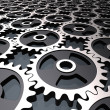 Stock Photo: Gears background