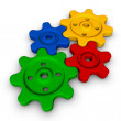 Colorful gears — Stock Photo