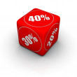Discount dice — Stock Photo