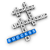 Job strategy crossword — Stock Photo