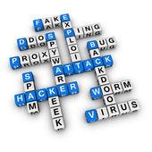 Hacker aattack — Stock Photo