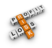 Profit, loss and risk — Stock Photo