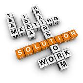 Palavras cruzadas de solução — Foto Stock
