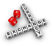 Currency exchange dice — Stock Photo