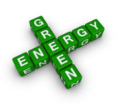 Green energy label — Stock Photo