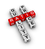 Quality and Price Ratio — Stock Photo