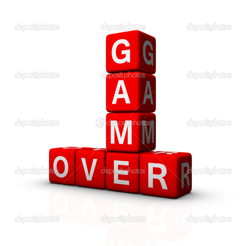 Game Over (cubes crossword series) — Stock Photo #4556115