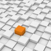 Cubo vermelho diferente — Foto Stock