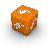 Discount dice — Stock Photo