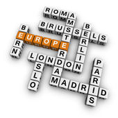 Crossword europe — Stock Photo