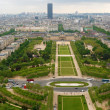 View at Champ de Mars, Paris — Stock Photo