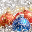 Christmas decorations background — 图库照片